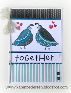 Karen Pedersen: Anniversary or Wedding Card