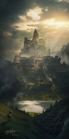 ArtStation - Return Of King, Amit Nitore #FantasyLandscape