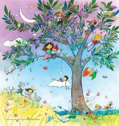 A Tree Full of Stories ~ Marie-Louise Gay School Murals, World Of Books, Book Images, Children's Book Illustration, I Love Books, Whimsical Art, Book Art, Graffiti, Artsy