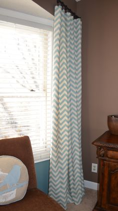 chevron curtains for the living room