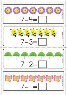 Spring Math Centers for Kindergarten - Math Math Center Rotations, Math Centers, Preschool Math, Kindergarten Math, Fifth Grade Math, Grade 3, Second Grade, Christmas Math, Thanksgiving Math