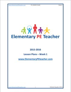 Physical Fitness: Physical Fitness Lesson Plan For Elementary