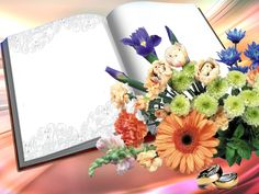 Book Images, Floral Border, Border Design, Table Decorations, Illustration, Pictures, Hair, Home Decor, Cute
