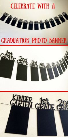 This would be perfect for my son's graduation party! I can get all his school photos together to display. by adrian Party Graduation Photo Banner, Graduation Banner, Graduation Picture Banner, High School Graduation Banner, College Graduation Photo Banner Graduation Party Planning, Graduation Banner, Graduation Celebration, Parties Decorations, Graduation Party Ideas High School, Trunk Party Ideas College, Graduation Party Centerpieces, Graduation Party Foods, Ideas Para Fiestas