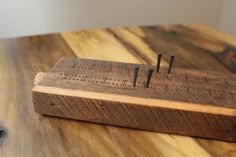 Cribbage Board Reclaimed Barn Wood Oil rubbed by LazerEnterprises, $88.00