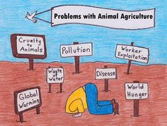 problems with animal agriculture #vegan #vegetarian