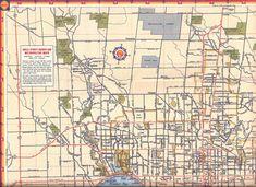 Toronto road map, c. 1947. #vintage #maps #1940s #Canada