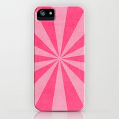 pink and hot pink starburst iPhone & iPod Case by her art