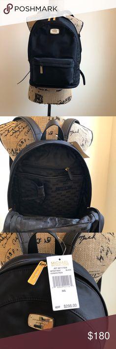 "NWT Michael Kors Jet Set Back Pack NWT Michael Kors Jet Set Back Pack Nylon with leather straps  Approximate Measurements 15"" L x 12"" W x 6"" D Michael Kors Bags Backpacks"