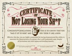 Your Certificate Of Not Losing Your Sht Parentalaughs Funny In Funny Certificate. Your Certificate Of Not Losing Your Sht Parentalaughs Funny In Funny Certificate Templates - 10 Professional Templates Ideas