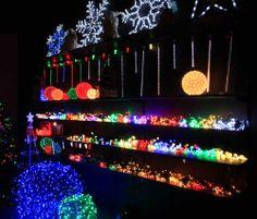 wall of lights!! #Christmas #LED