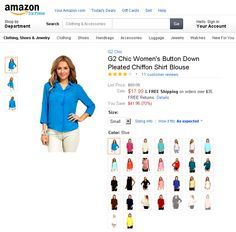 G2 Chic Women's Button Down Pleated Chiffon Shirt Blouse. Here is every lady's MUST-HAVE chiffon blouse! Stylish and Comfortable! It's easy to mix and match with any casual or formal bottoms from your closet.