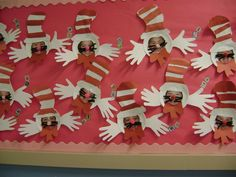 cat in the hat door decoration ideas   ... The Tale Library Bulletin Board » Cat In The Hat Hallway Decoration