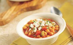 This healthful warming chili is packed with fiber and full of classic Mediterranean flavor!