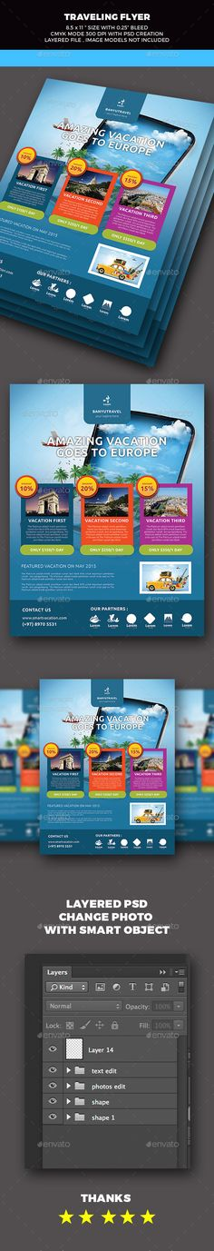 Travel Tourism Flyer - Holidays Events
