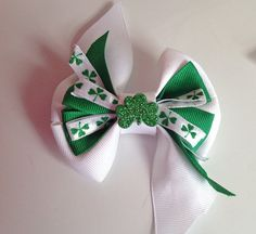St. Patrick's Day 3 Layer Collar Bow for Dog or Cat