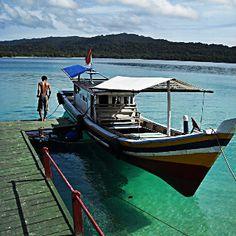 Boat @ Peucang Island, Ujung Kulon - West Java, Indonesia