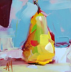 Pear no. 32 Painting by Angela Moulton