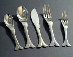 fish flatware - love these pieces!