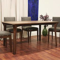 Baxton Mier Dining Table in Rich Neutral Brown Rubberwood 1