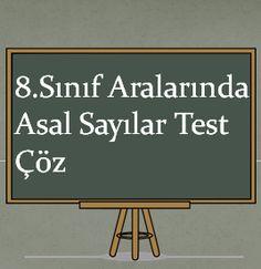 8.Sınıf Aralarında Asal Sayılar Test