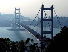 Tsing Ma Bridge. Hong Kong