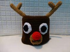 Handgefertigt häkeln Weihnachten Rudolf das von QuirkyPurple