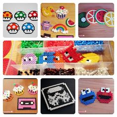 Hama beads crafts by thequeenviolet