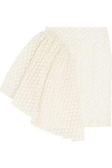 Simone Rocha Embroidered cotton-blend skirt | NET-A-PORTER