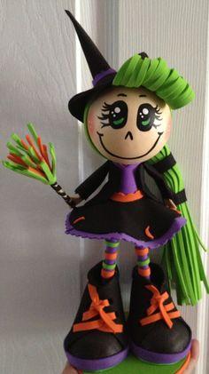 Halloween Handmade Witch Fofucha Doll