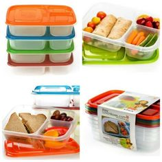 Maybe I should get these containers...keeps everything in one place, yet separated...I like.
