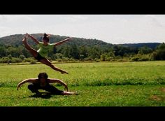 Alvin Ailey inspired - the crow pose and an angled straddle jump