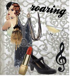 "roaring twenties FASHION | Roaring Twenties"" by jillscribbles on Polyvore | Fashion Inspiration"