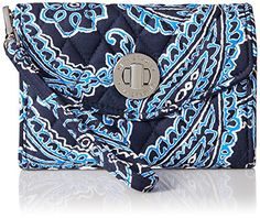 Vera Bradley Your Turn Smartphone Wristlet Wallet, Blue B...