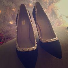 Studded heels Never worn brand new Shoes Heels