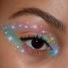 🪐 psyche's box 'space panda' hydra liner kush waterproof mascara brow wiz in… Makeup Eye Looks, Eye Makeup Art, Cute Makeup, Pretty Makeup, Makeup Inspo, Eyeshadow Makeup, Makeup Inspiration, Makeup Drawing, Tumblr Eye Makeup