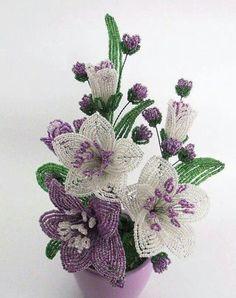 Dekorace lilie * z korálků ♥♥♥