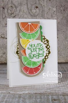 Try a fun color combination using the Cucumber Crush Classic ink from Stampin' Up!, Apple of My Eye stamp set - StampinByTheSea.com