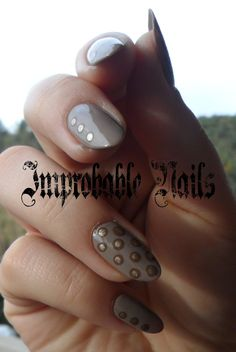 """Improbable Nails: """"Dotted Neutral"""" Nails + make up in collaborazione con Alice in Makeupland"""