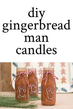 Directions (with video) on how to make gingerbread scented DIY Gingerbread Man Candles from upcycled Starbucks Frappuccino bottles. Starbucks Bottle Crafts, Starbucks Frappuccino Bottles, How To Make Gingerbread, Gingerbread Man, Christmas Candles, Christmas Crafts, Diy Candles, Candle Gifts, Homemade Candles