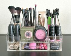 """Arya Makeup Organizer Storage Modular Tray """"Arya Acrylic Makeup Organizer Storage Tray"""" is our Most Loved from our collection. Designed and created by us to maximize your makeup storage solutions. Helps you keep your makeup as they were meant Makeup Storage Solutions, Makeup Organization, Storage Ideas, Storage Boxes, Skin Makeup, Beauty Makeup, Makeup Geek, Rangement Makeup, Make Up Storage"""