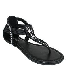 48c0a3f115b6 Black Vicenza Sandal  zulilyfinds Olivia Miller