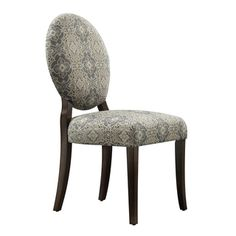 INSPIRE Q Paulina Blue Damask Round Back Dining Chair (Set Of 2) By INSPIRE  Q