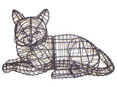 Cat, Lying Animal Topiary Frame