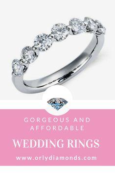 Floating diamonds wedding band at Orly Diamonds Cool Wedding Rings, Diamond Wedding Rings, Diamond Bands, Wedding Bands, Diamonds, Engagement Rings, Jewelry, Enagement Rings, Wedding Rings