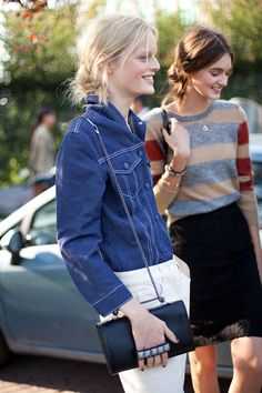 Street Style Spring 2013: Milan Fashion Week Hanne Gaby in chambray.