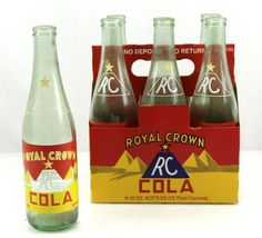 6-pack 1930s RC Royal Crown Cola Pyramid Repro Painted ACL 12oz Soda Bottle