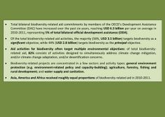 OECD's DAC bilateral #biodiversity-related aid commitments=USD 6.3 billion per year on average in  2010-2011