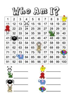 Here's a simple 100s board activity for identifying missing numbers.