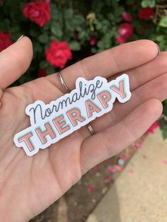 Normalize Therapy Sticker on Waterproof Vinyl Mental Health Matters, Mental Health Quotes, Mental Health Awareness, Sticker Shop, Sticker Design, Pin And Patches, Coping Skills, Mental Illness, Therapy